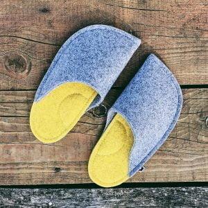 "Felt 100% natural felt slippers ""Made by Bears"""