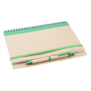 Notebooks Recycled Notebook with a pen – colored, A5 size