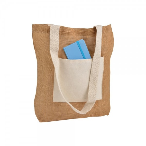All products Jute bag with a cotton pocket