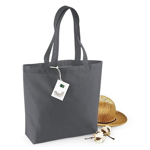 Organski bombaž Barvna nakupovalna vrečka z razširjenim dnom