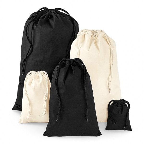 Cotton Cotton stuff bag with cord closure