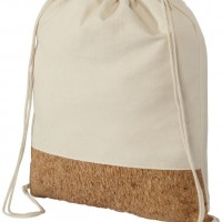 All products Woods cotton and cork bottom drawstring backpack