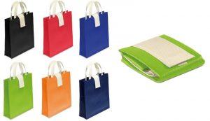 Netkano blago Zložljiva vrečka – netkano blago