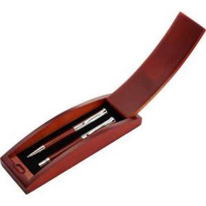 Ekoman Set pisal iz palisandra (in kovine) v škatlici iz bukovega lesa