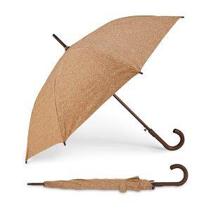 Dežniki Dežnik iz plute z lesenim ročajem