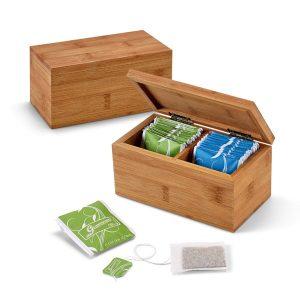 Kuhinja Škatla za shranjevanje čaja – dva predala