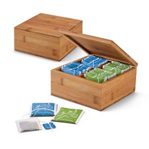 Kuhinja Škatla za shranjevanje čaja – štirje predali
