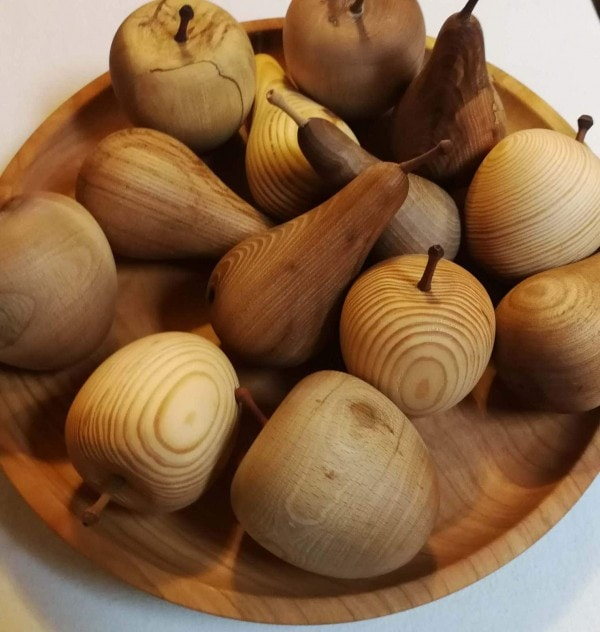 All products Handmade fruits made from different types of wood