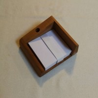 All products Handmade pen and paper stand made from cherry wood
