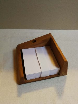 Ethnological Gifts Handmade pen and paper stand made from cherry wood