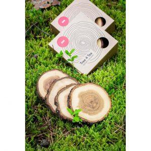Wood Wooden tea coasters