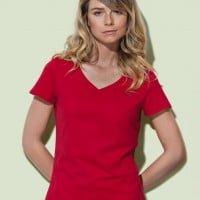 Ekoman Ženska majica iz eko bombaža – V izrez