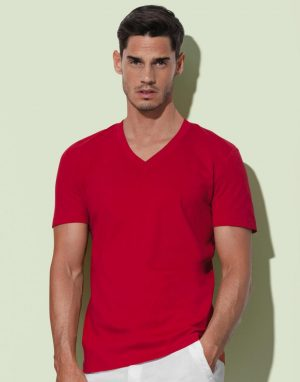All products Cotton V-neck men's T-shirt