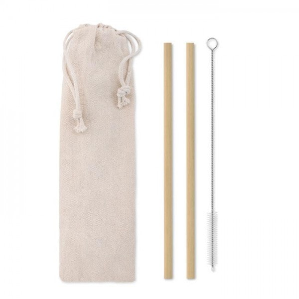 All products Bamboo Straw w/brush in pouch