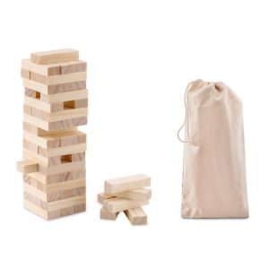 Brain Teaser Tower game in cotton pouch