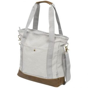 Canvas Harper zippered cotton canvas tote bag