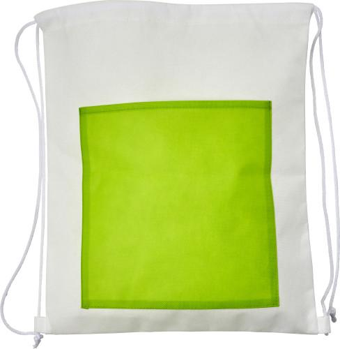 Backpacks Nonwoven backpack with coloured pocket