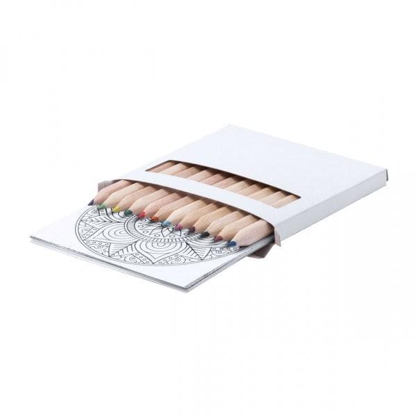 Barvice Set pobarvanke z mandalami in barvicami