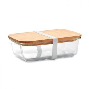 Kitchen Glass lunchbox with bamboo lid