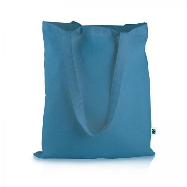 Bombaž Fairtrade barvasta vrečka Barcelona – 12 barv!