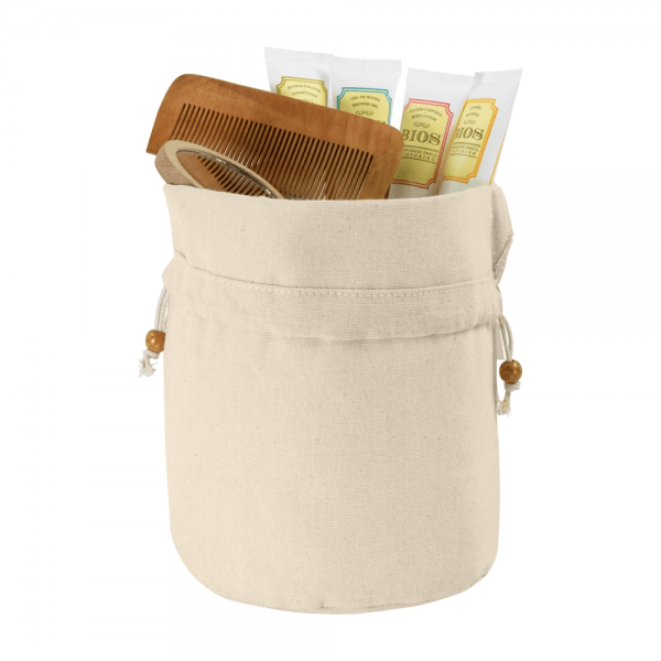 Cosmetic bags Cotton toilet bag with tightening cords
