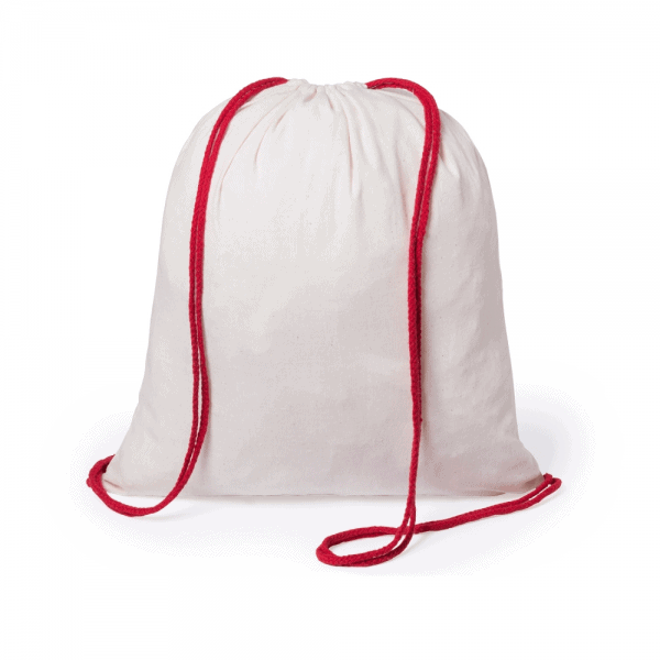 Backpacks 100% cotton backpack with colored straps