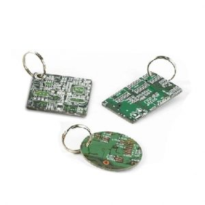 Keyrings Keychain pendant made from recycled circuit boards