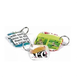 Keyrings Keychains made from recycled plastic bags