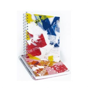 Notebooks Drawing paper block with covers made from recycled plastic bags A5