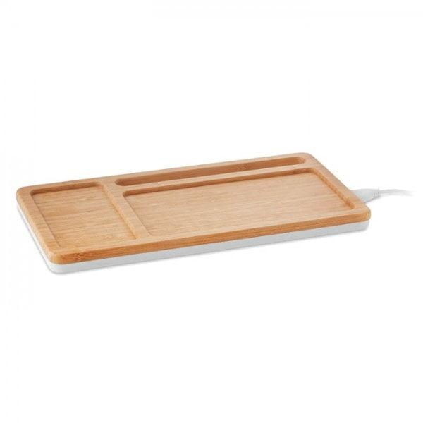 Brezžični in prenosni polnilci Bambusova polnilna plošča Simon