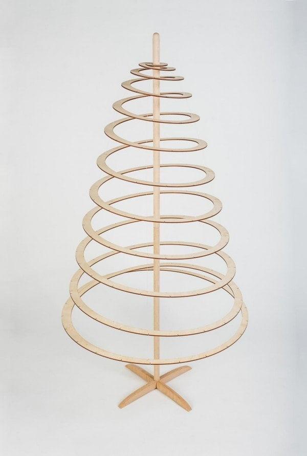 Ekoman Spiralna lesena novoletna smreka – Velika