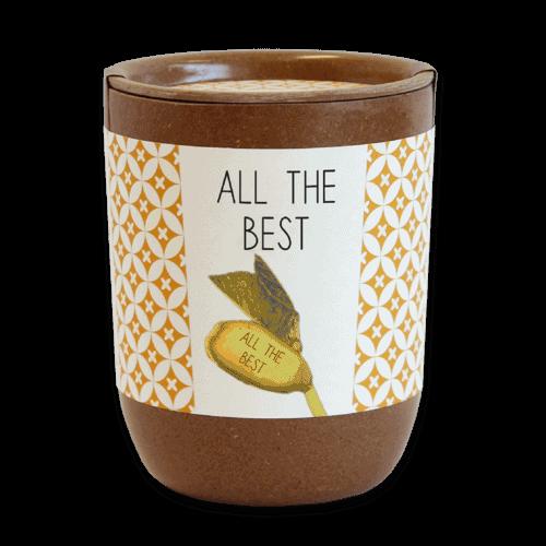 Flower pots, box, trough A bean with a message