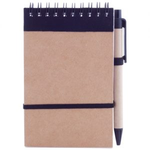Notebooks Recycled notebook with a pen – colored