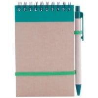 Notesi Reciklirana beležnica s pisalom – barvna
