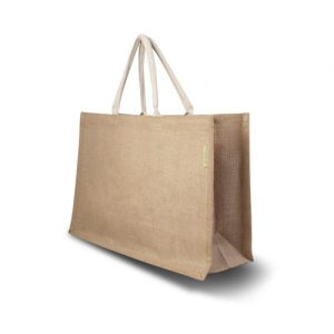 All products Jute bag with cotton handles, elongated