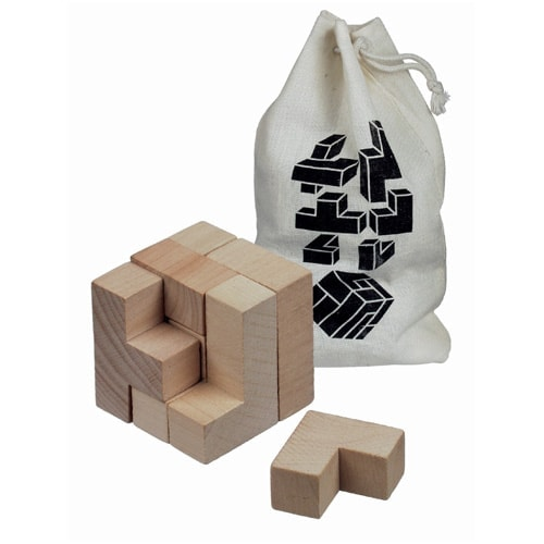 All products Solfee wooden squares brain teaser with pouch