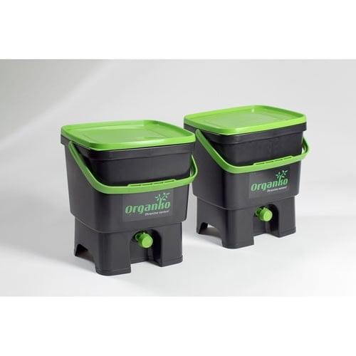Ločevanje odpadkov Organko – 2 koša za ločevanje/kompostiranje