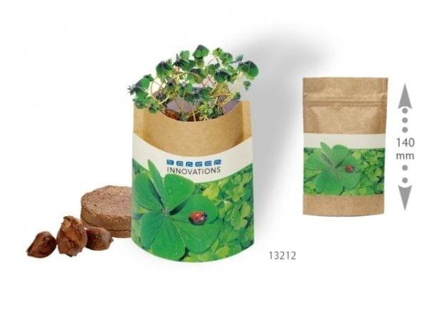 Cvetlični lončki, škatlica, korito 4-peresna deteljica v vrečki