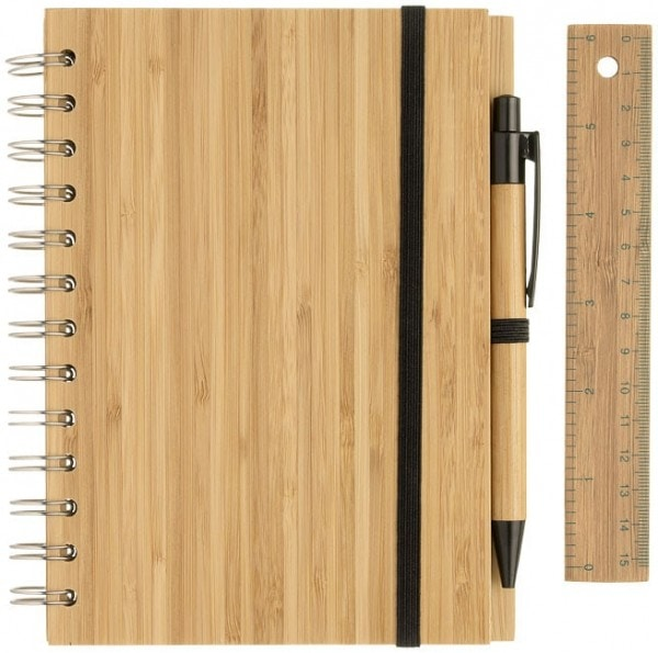 Ekoman Notesnik set iz bambusa