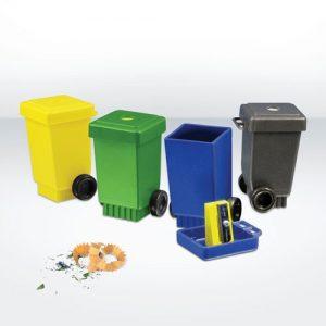 Desktop Green & Good Wheelie Bin Pencil Sharpener – Recycled
