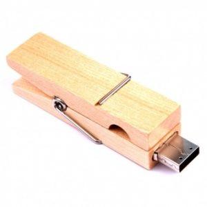 Ekoman USB ključek iz lesa v obliki ščipalke