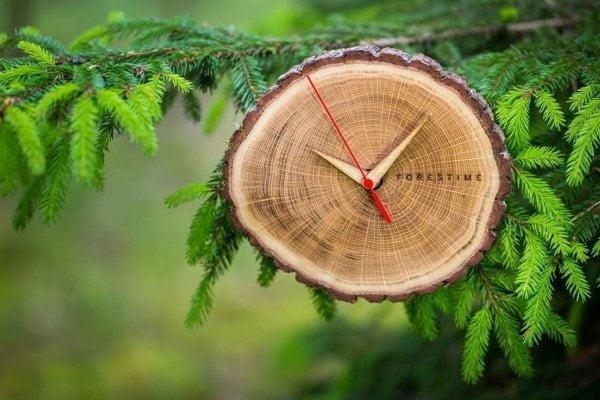 Wood Wooden wall clock