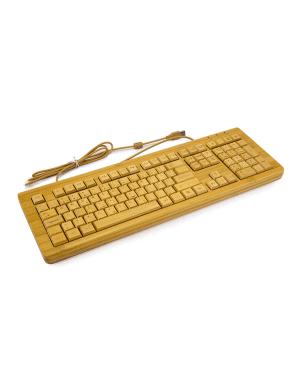 Desktop Wooden computer keyboard