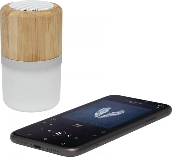 All products Aurea bamboo Bluetooth® speaker with light