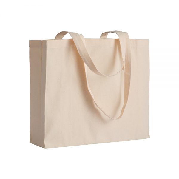 Bombaž Bombažna vrečka z dolgimi ročaji in dnom, 200 g/m2