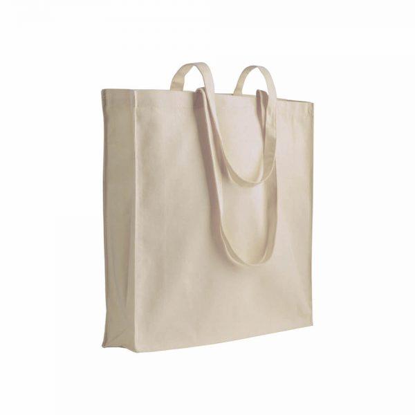 Bombaž Bombažna vrečka z dolgimi ročaji in dnom, 180 g/m2