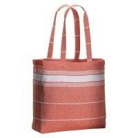 Bombaž Bombažna nakupovalna vrečka s fouta učinkom in dolgimi ročaji