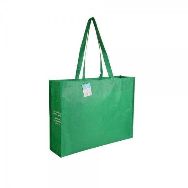 PLA - reciklirana plastika Nakupovalka iz reciklirane plastike, dolgi ročaji in dnom