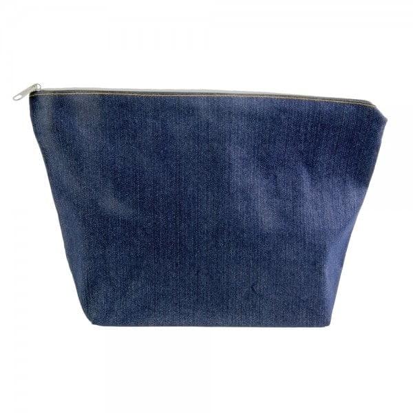 Kozmetične torbice Toaletna torbica iz jeansa na zadrgo