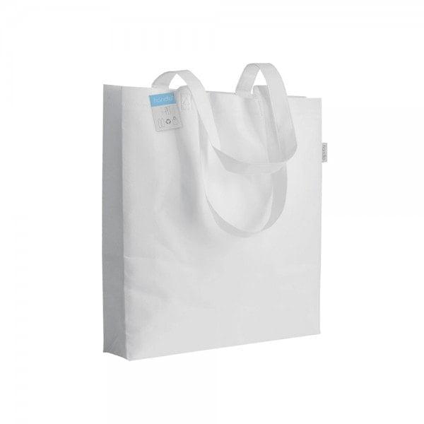 PLA - reciklirana plastika Vrečka iz reciklirane plastike z dnom in dolgimi ročaji